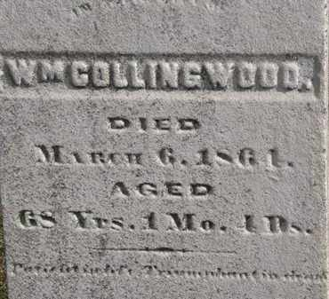 COLLINGWOOD, WM. - Erie County, Ohio | WM. COLLINGWOOD - Ohio Gravestone Photos