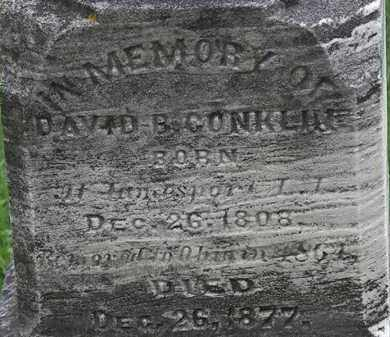 CONKLIN, DAVID B. - Erie County, Ohio | DAVID B. CONKLIN - Ohio Gravestone Photos