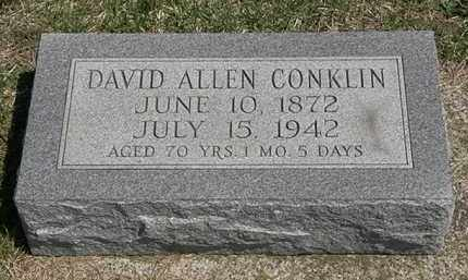 CONKLIN, DAVID ALLEN - Erie County, Ohio | DAVID ALLEN CONKLIN - Ohio Gravestone Photos