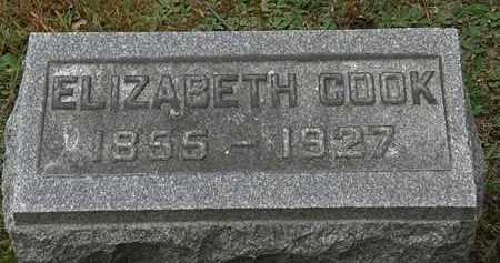 COOK, ELIZABETH - Erie County, Ohio   ELIZABETH COOK - Ohio Gravestone Photos