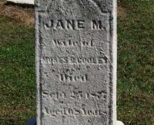 COOLEY, JANE M. - Erie County, Ohio | JANE M. COOLEY - Ohio Gravestone Photos