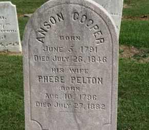 PELTON COOPER, PHEBE - Erie County, Ohio | PHEBE PELTON COOPER - Ohio Gravestone Photos