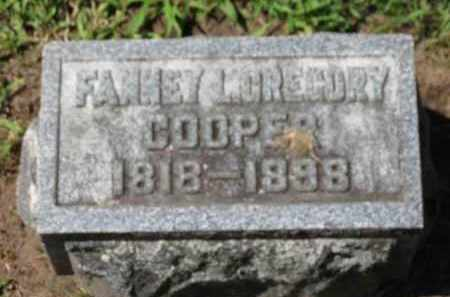 GREGORY COOPER, FANNEY L. - Erie County, Ohio | FANNEY L. GREGORY COOPER - Ohio Gravestone Photos