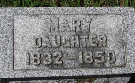 COOPER, MARY - Erie County, Ohio | MARY COOPER - Ohio Gravestone Photos