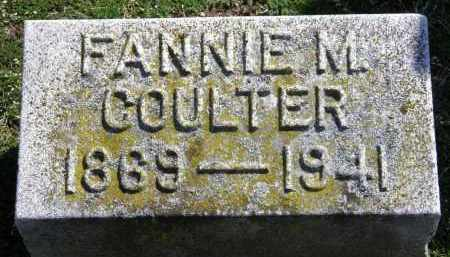 COULTER, FANNIE M. - Erie County, Ohio | FANNIE M. COULTER - Ohio Gravestone Photos