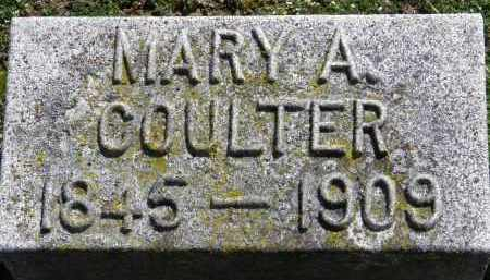 COULTER, MARY A. - Erie County, Ohio | MARY A. COULTER - Ohio Gravestone Photos