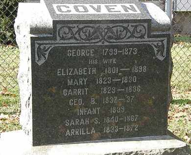 COVEN, INFANT - Erie County, Ohio | INFANT COVEN - Ohio Gravestone Photos