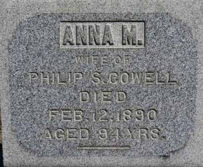 COWELL, ANNA M. - Erie County, Ohio | ANNA M. COWELL - Ohio Gravestone Photos