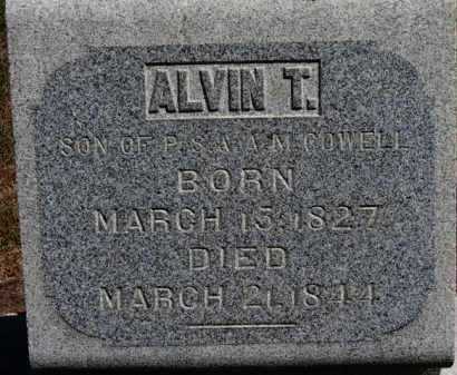 COWELL, ALVIN T. - Erie County, Ohio | ALVIN T. COWELL - Ohio Gravestone Photos