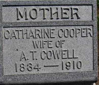 COWELL, CATHARINE - Erie County, Ohio | CATHARINE COWELL - Ohio Gravestone Photos
