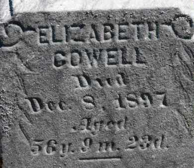 COWELL, ELIZABETH - Erie County, Ohio | ELIZABETH COWELL - Ohio Gravestone Photos