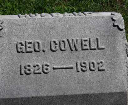 COWELL, GEO. - Erie County, Ohio | GEO. COWELL - Ohio Gravestone Photos