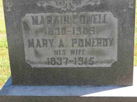 COWELL, MARY A. - Erie County, Ohio | MARY A. COWELL - Ohio Gravestone Photos