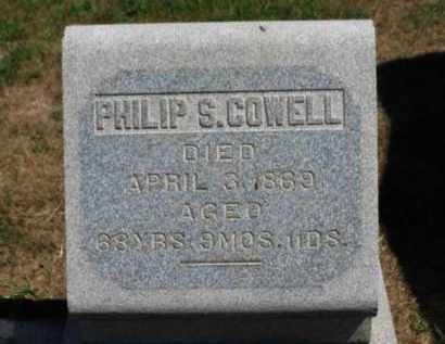 COWELL, PHILIP S. - Erie County, Ohio | PHILIP S. COWELL - Ohio Gravestone Photos