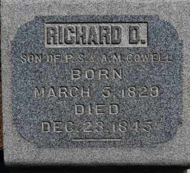 COWELL, RICHARD D. - Erie County, Ohio | RICHARD D. COWELL - Ohio Gravestone Photos