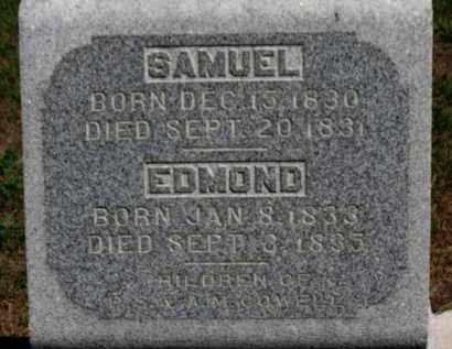 COWELL, EDMOND - Erie County, Ohio | EDMOND COWELL - Ohio Gravestone Photos