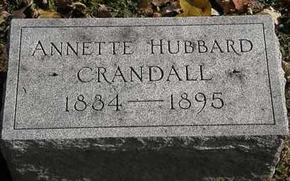 HUBBARD CRANDALL, ANNETTE - Erie County, Ohio | ANNETTE HUBBARD CRANDALL - Ohio Gravestone Photos