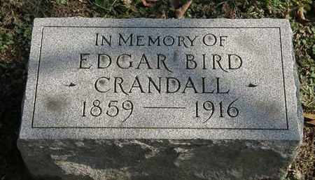 CRANDALL, EDGAR BIRD - Erie County, Ohio | EDGAR BIRD CRANDALL - Ohio Gravestone Photos