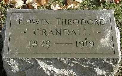 CRANDALL, EDWIN THEODORE - Erie County, Ohio | EDWIN THEODORE CRANDALL - Ohio Gravestone Photos