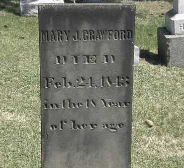 CRAWFORD, MARY J. - Erie County, Ohio | MARY J. CRAWFORD - Ohio Gravestone Photos