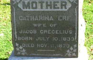 ERF CRECELIUS, CATHARINA - Erie County, Ohio | CATHARINA ERF CRECELIUS - Ohio Gravestone Photos