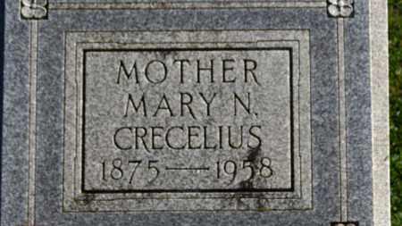 CRECELIUS, MARY N. - Erie County, Ohio | MARY N. CRECELIUS - Ohio Gravestone Photos