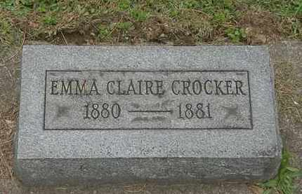 CROCKER, EMMA CLAIRE - Erie County, Ohio | EMMA CLAIRE CROCKER - Ohio Gravestone Photos