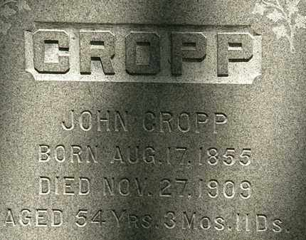 CROPP, JOHN - Erie County, Ohio | JOHN CROPP - Ohio Gravestone Photos