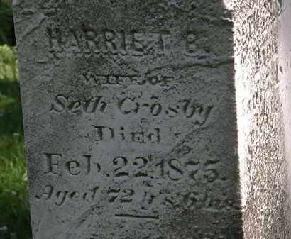 CROSBY, HARRIET B. - Erie County, Ohio | HARRIET B. CROSBY - Ohio Gravestone Photos