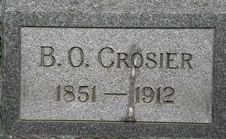 CROSIER, B.O. - Erie County, Ohio | B.O. CROSIER - Ohio Gravestone Photos
