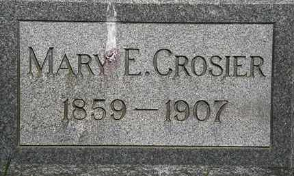 CROSIER, MARY E. - Erie County, Ohio | MARY E. CROSIER - Ohio Gravestone Photos
