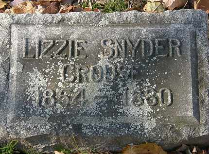 SNYDER CROUSE, LIZZIE - Erie County, Ohio | LIZZIE SNYDER CROUSE - Ohio Gravestone Photos