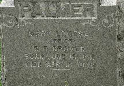CROVER, MARY LOUESA - Erie County, Ohio | MARY LOUESA CROVER - Ohio Gravestone Photos
