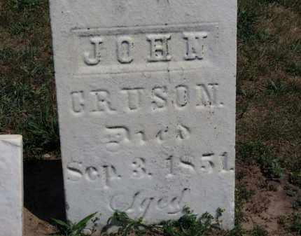 CRUSON, JOHN - Erie County, Ohio | JOHN CRUSON - Ohio Gravestone Photos