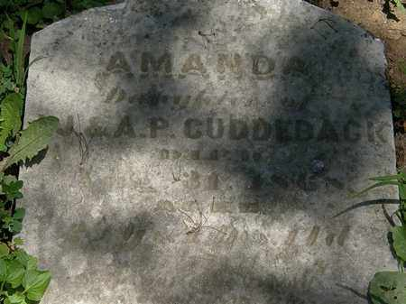 CUDDEBACK, AMANDA - Erie County, Ohio | AMANDA CUDDEBACK - Ohio Gravestone Photos