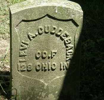 CUDDEBACK, LEVI A. - Erie County, Ohio | LEVI A. CUDDEBACK - Ohio Gravestone Photos