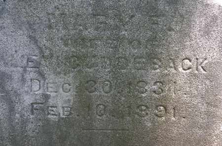 CUDDEBACK, MARY F. - Erie County, Ohio | MARY F. CUDDEBACK - Ohio Gravestone Photos