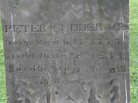 CUDDERBACK, PETER - Erie County, Ohio | PETER CUDDERBACK - Ohio Gravestone Photos