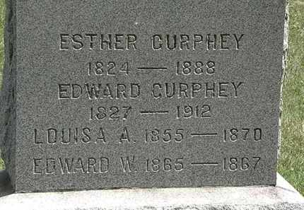 CURPHEY, EDWARD - Erie County, Ohio | EDWARD CURPHEY - Ohio Gravestone Photos