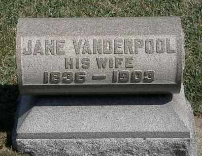 VANDERPOOL CURRIER, JANE - Erie County, Ohio | JANE VANDERPOOL CURRIER - Ohio Gravestone Photos