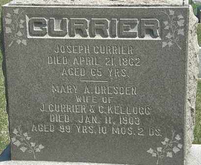 DRESDEN CURRIER, MARY A. - Erie County, Ohio | MARY A. DRESDEN CURRIER - Ohio Gravestone Photos
