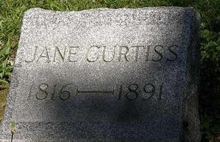 CURTISS, JANE - Erie County, Ohio | JANE CURTISS - Ohio Gravestone Photos