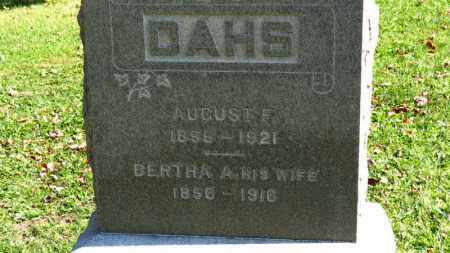 DAHS, AUGUST F. - Erie County, Ohio | AUGUST F. DAHS - Ohio Gravestone Photos