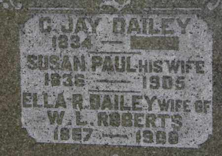 DAILEY, C. JAY - Erie County, Ohio | C. JAY DAILEY - Ohio Gravestone Photos