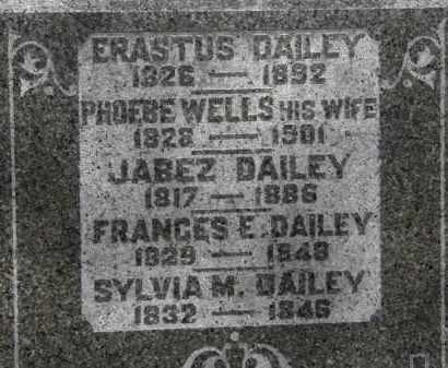 WELLS DAILEY, PHOEBE - Erie County, Ohio | PHOEBE WELLS DAILEY - Ohio Gravestone Photos