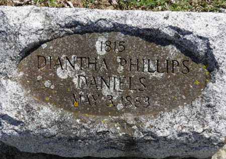 PHILLIPS DANIELS, DIANTHA - Erie County, Ohio | DIANTHA PHILLIPS DANIELS - Ohio Gravestone Photos