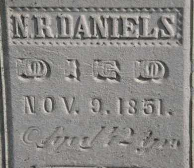 DANIELS, N.R. - Erie County, Ohio | N.R. DANIELS - Ohio Gravestone Photos