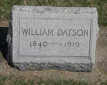 DATSON, WILLIAM - Erie County, Ohio | WILLIAM DATSON - Ohio Gravestone Photos