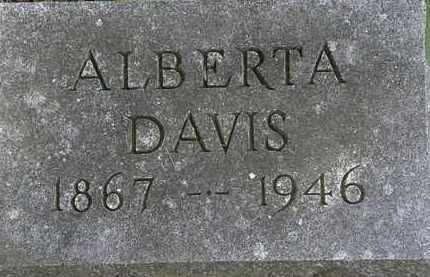 DAVIS, ALBERTA - Erie County, Ohio | ALBERTA DAVIS - Ohio Gravestone Photos