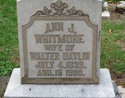 WHITMORE DAVLIN, ANN J. - Erie County, Ohio | ANN J. WHITMORE DAVLIN - Ohio Gravestone Photos
